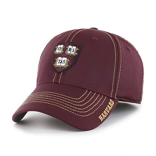 OTS NCAA Harvard Crimson Start Line Center Stretch Fit Hat, Dark Maroon, Large/X-Large - Ncaa Line