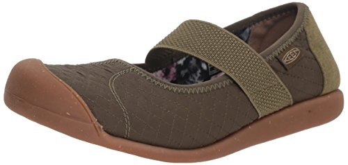 KEEN Women's Sienna MJ Quilted Mary Jane Flat, Martini Olive, 6 M US