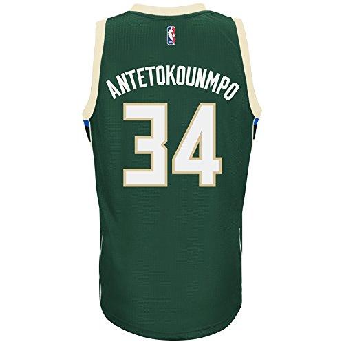 Milwaukee Bucks Giannis Antetokounmpo Adidas Swingman Jersey (Medium)