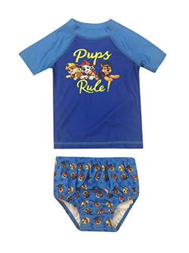 Newborn UPF 50 Boy Paw Patrol Rash Guard and Swim Diaper Cover 2 Piece Set 24M ()
