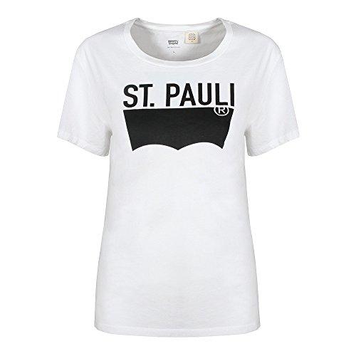 Pauli Bianco Sport Donna Shirt Tee St Levi's The T pwRFFx