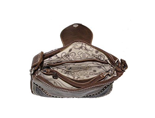 Set Purse Carrying Montana West Concealed Messenger Coffee Gun Wallet Ladies cq8qZw4xvC
