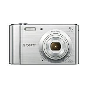 41AaXT0xalL. SS300  - Sony (DSCW800) 20.1 MP Digital Camera (Silver)