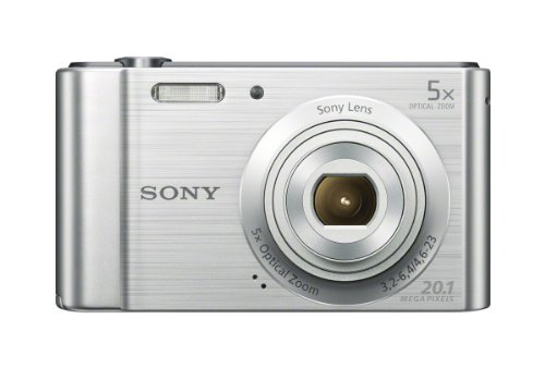 Sony (DSCW800) 20.1 MP Digital Camera (Silver) (Best Small Digital Camera Under 200)