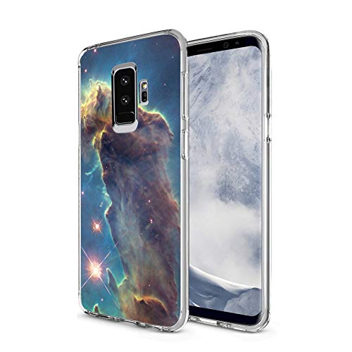 Owa UV Printing Case for Samsung Galaxy S9 Plus, Shock-Absorption Bumper Cover, Anti-Scratch Clear Back, HD Clear - Outer Space