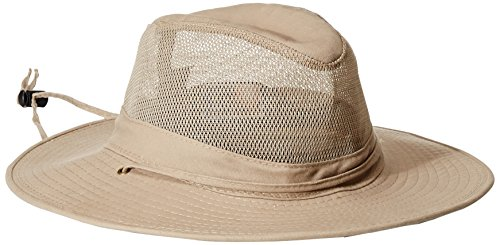 Dorfman Pacific DPC Outdoors Solarweave Treated Cotton Hat, Camel, (Dorfman Pacific Mesh Safari Hat)