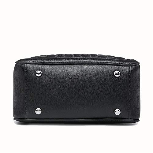 Bolso de Negro de Totes Paquete Femenino Color Hobo Negro verstil Hombro Bolsos seoras Diagonal Femenino Crossbody Bags Bag Las Borla Xuanbao Mujer Shoulder de Almacenamiento qva7Swxat