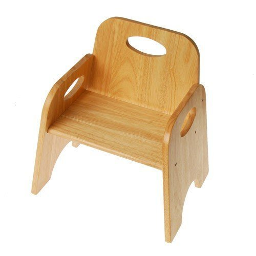 Constructive Playthings Classic Toddler Chair, Wooden Stackable Seat for Children, 8 Inches High by Constructive Playthings