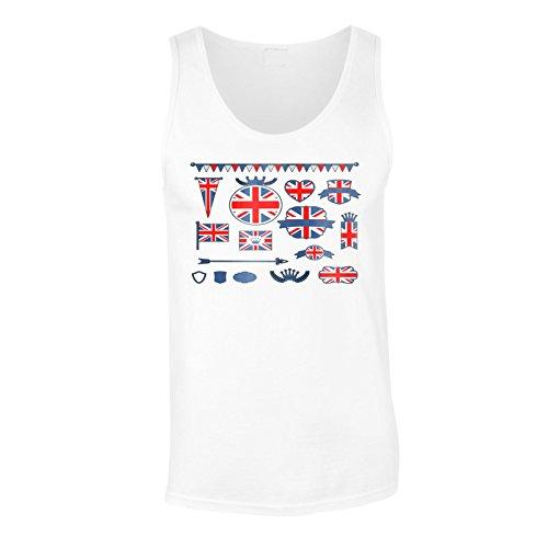 Neue Vereinigte Königreich Flagge Herren Tank top l221mt