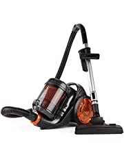 VonHaus 700W Bagless Vacuum Cleaner | 3.5L Cyclonic All Floor Cleaner | Double Filtration| Long 6m Cable | HEPA Filter | Telescopic Tube & Flexible Hose | Includes Crevice & Brush Head Attachments