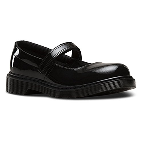 Dr. Martens Girl's Maccy Dress Mary Jane Flats, Black Leather, 4 Big Kid M UK, 5 M by Dr. Martens