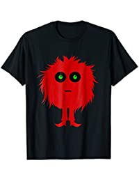 Red Fuzzy Monster T-Shirt, Monster Shirt, Creature Tee,