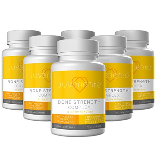 Juveriente Bone Strength Osteoporosis Supplement - All Natural Bone Health & Bone Supplement featuring Beta-Cryptoxanthin - Fight Bone Loss - Non-GMO and Gluten Free – 1 Month Supply by Juveriente (Image #5)