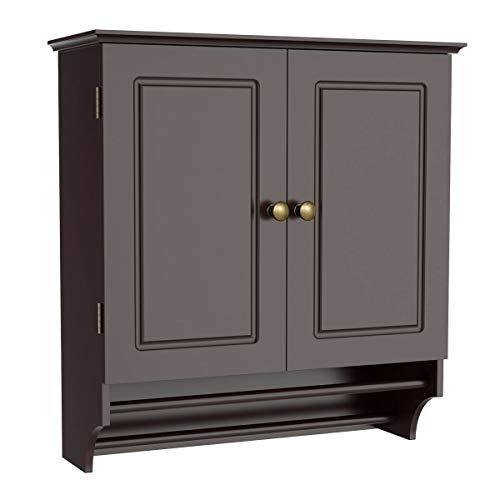 Wall Mount Cabinet Bathroom Storage Shelf Laundry Kitchen Organizer w/Towel -