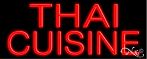 13x32x3 inches Thai Cuisine NEON Advertising Window Sign by Light Master