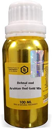 SHINE MILL Parag Fragrances Dehnal Oud + Arabian Oud Gold Mix Attar 100ml (Alcohol Free Attar for Men) Perfume Oil   Scent   Itra
