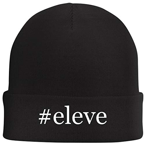 Tracy Gifts #Eleve - Hashtag Beanie Skull Cap with Fleece Liner, Black, One Size (Best Elevator Speech Ever)