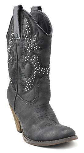 - Very Volatile Women's Arienette Western Boot,Black,9 B US