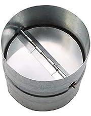 """Vent Systems 8"""" Inch Backdraft Damper - Backflow Shutter - Heavy-Duty Inline Springs Loaded - One-Way Airflow Ducting Insert - Inline Fan Vent Deflector"""