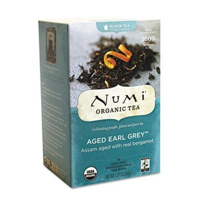 "Numi – 4 Pack – Organic Teas And Teasans 1.27Oz Aged Earl Grey 18/Box ""Product Category: Breakroom And Janitorial/Beverages & Snack Foods"""