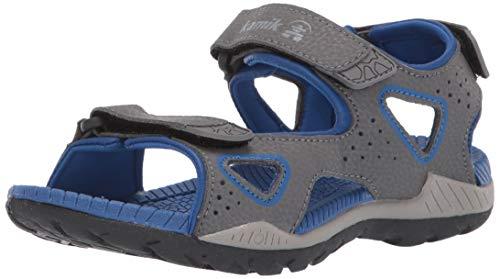 Kamik Boys' LOBSTER2 Sandal, Charcoal, 10 M US Toddler