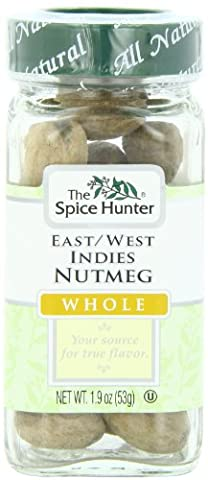 The Spice Hunter Nutmeg, East/West Indies, Whole, 1.9-Ounce Jar - Nutmeg Spice