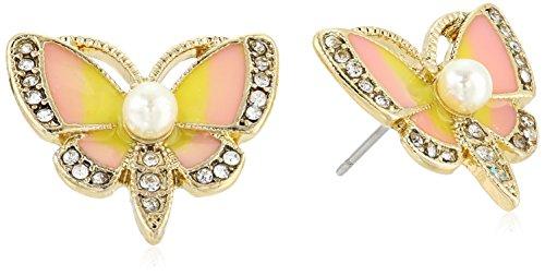 Betsey Johnson Butterfly Stud Earrings