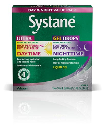 Systane Day & Night Eye Drops Value Pack, Two 10-mL Bottles