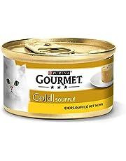 Purina GOURMET Gold Soufflé, Eiersoufflé, Katzenfutter nass, erlesener Genuss für Katzen, hochwertiges Nassfutter, 12er Pack (12 x 85 g Dose)