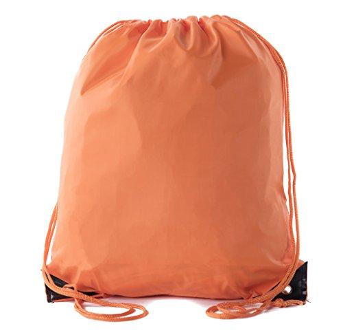 Mato & Hash Basic Drawstring Tote Cinch Sack Promotional Backpack Bag | 15 Colors | 1PK-100PK Available