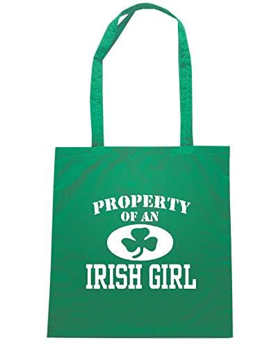 Borsa Shopper Verde TIR0166 PROPERTY OF AN IRISH GIRL