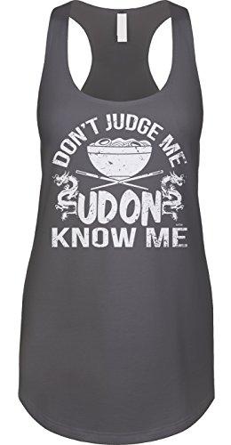 Blittzen Womens Tank Dont Judge Me Udon Know Me, S, Charcoal