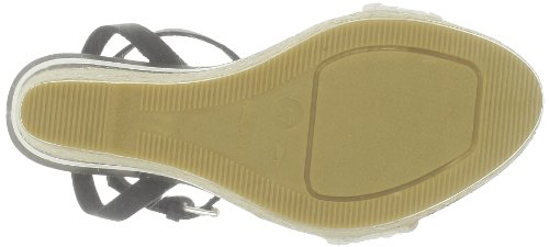 US Polo Assn - Sandalias de cuero para mujer Negro (Noir (Blk/Whi))
