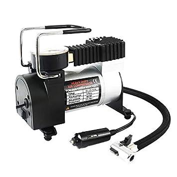 WOVELOT Compresor de Aire portatil de la Bomba del inflador del Coche 12V Bomba de inflado del neumatico electrico de 80PSI para Las Motocicletas Auto de ...