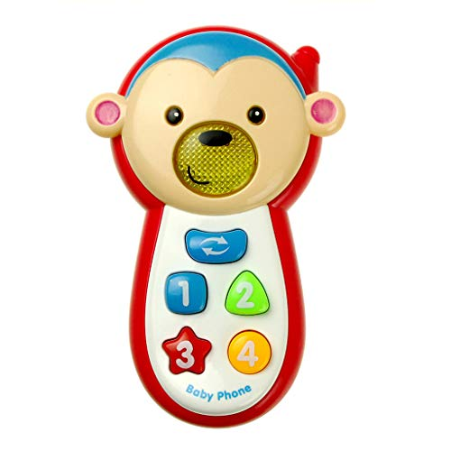 Colorzonesd Kids Smart Toy Music Sound Light Mobile Early Educational Music Phone Toy (B) (Best Peer To Peer Music)