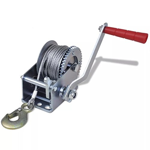 ank Steel Gear Cable Wire Winch Boat ATV Trailer w/Hook Heavy Duty ()