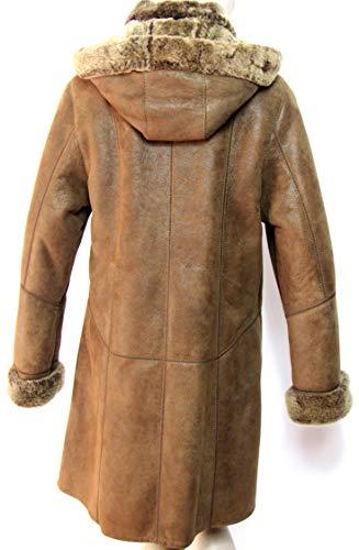 PELLI Manteau 3 retourn Mouton 100 laine Cuir 4 Taille 40 Peau GOLD vritable rOA5qxUrw