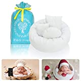 4PC Newborn Photo Props   Baby Photography Basket Pictures   Baby Shower Gift   Infant Posing Props (1 Photo Donut and 3 Posing Pillows)