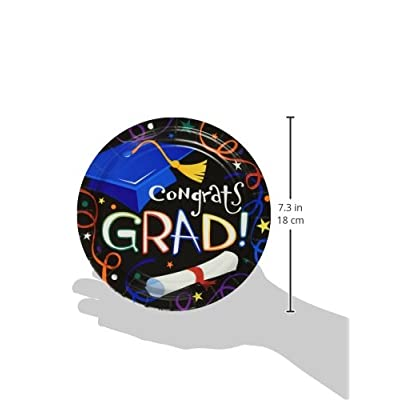 Amscan 749944 Super Value Pack Luncheon Plates, 7-Inch, Graduation, 50 Per Package: Childrens Party Plates: Kitchen & Dining
