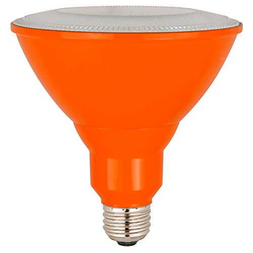Sunlite PAR38/LED/8W/B LED PAR38 Colored Reflector Light Bulb, Orange
