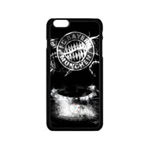 """Bayern M¡§1nchen Football Club Classic Design Print Black Case With Hard Shell Cover for Apple iPhone 6 4.7"""""""