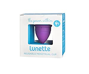 Lunette Menstrual Cup - Violet - Model 1 for Light to Medium Menstruation - Natural Alternative for Tampons and Sanitary Napkins