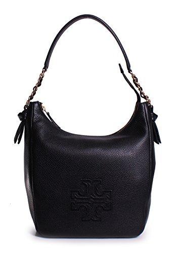 Tory Burch Women's Harper Zip Hobo Bag, Black, One Size