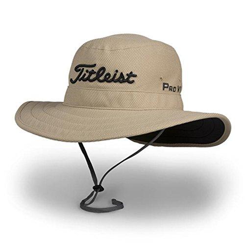 Titleist Men Women's Golf Caps (Tour Aussie, Khaki/Black, L/XL)