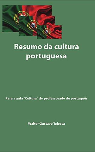 Resumo da cultura portuguesa: Aula Cultura do professorado de português