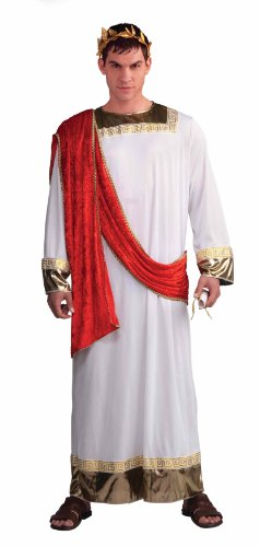 Forum Julius Caesar Complete Costume, Red/White, Standard