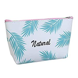 Amazon.com: Braceus Makeup Bag, Fashion Palm Leaf Printed ...