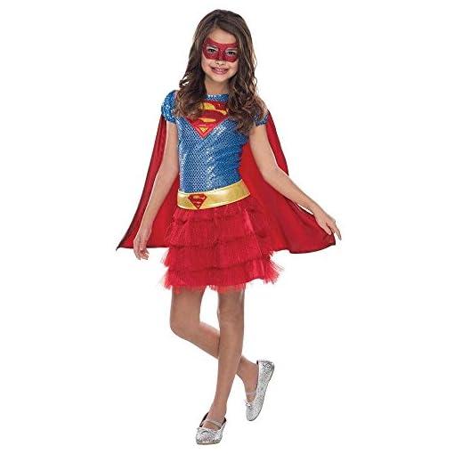 Superhero Sequin Child Costume Supergirl – Small