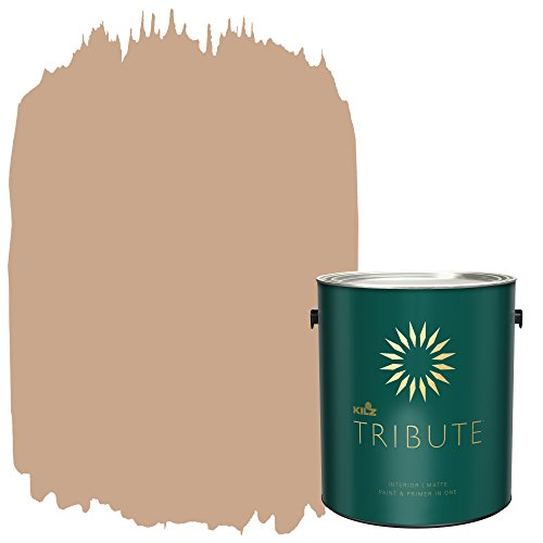 (KILZ TRIBUTE Interior Matte Paint and Primer in One, 1 Gallon, Pottery Beige (TB-93))