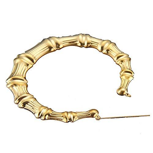 - Yanvan Women's Hip-Hop Earrings, Large Bamboo Earrings Hip-Hop Gold Silver Ladies Hoop Hoops Bling Circle 9cm